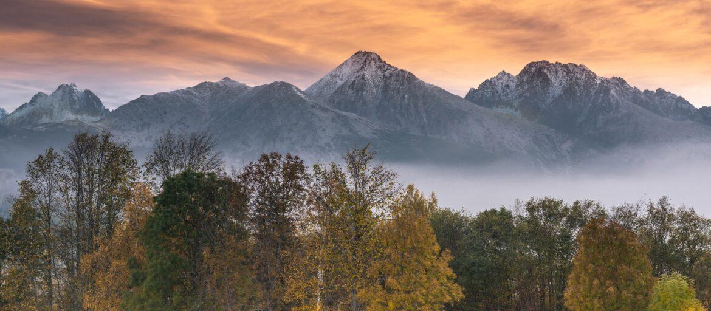 Magical Sunrise over High Tatra Mountains.